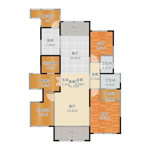 金融世家2室2厅2卫1厨162.00㎡户型图