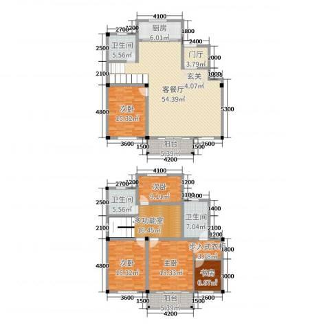 锦麟瓜渚御景园5室2厅3卫1厨228.00㎡户型图