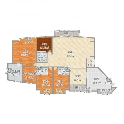 中粮海景壹号4室2厅4卫1厨335.00㎡户型图