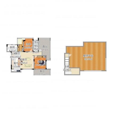 同景国际城恋山2室2厅3卫1厨279.00㎡户型图