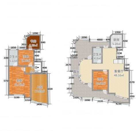 金世纪铭城豪庭4室2厅2卫1厨172.42㎡户型图
