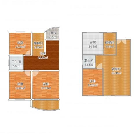 爱玛花苑5室2厅2卫1厨184.00㎡户型图