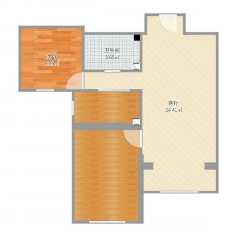 丽泽景园1室1厅1卫0厨62.00㎡户型图