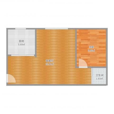 京城国际7#17061室2厅1卫1厨54.00㎡户型图