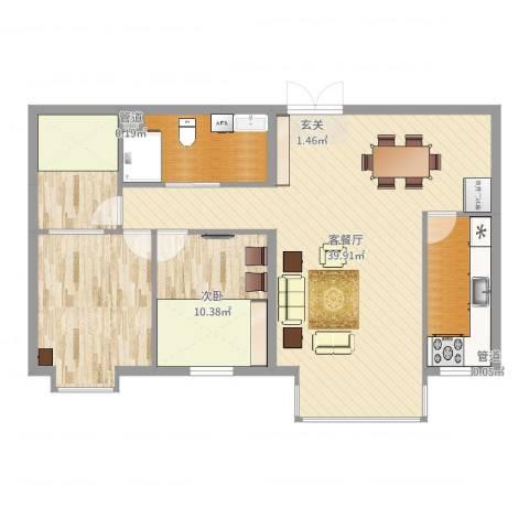 名购广场1室2厅0卫0厨103.00㎡户型图