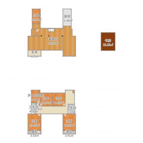 信益市花园小区6室2厅2卫1厨352.00㎡户型图