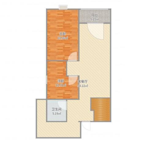 新兴名园2室2厅1卫0厨123.00㎡户型图