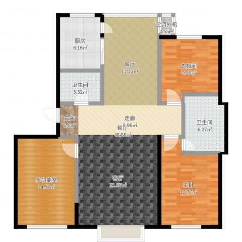 阳光嘉城二期1室1厅2卫1厨124.00㎡户型图