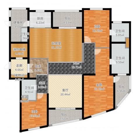 徐汇中凯城市之光3室1厅4卫1厨252.00㎡户型图