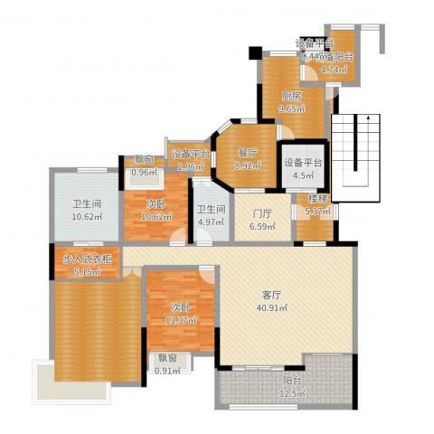 东方海德堡2室2厅2卫1厨206.00㎡户型图