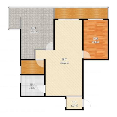 观云里2-21201室1厅0卫1厨88.00㎡户型图