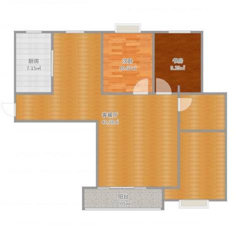 湖滨花园2室2厅0卫1厨113.00㎡户型图