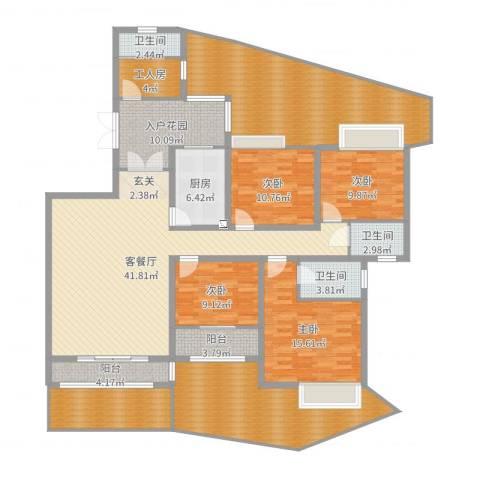 万佳裕园4室2厅3卫1厨229.00㎡户型图