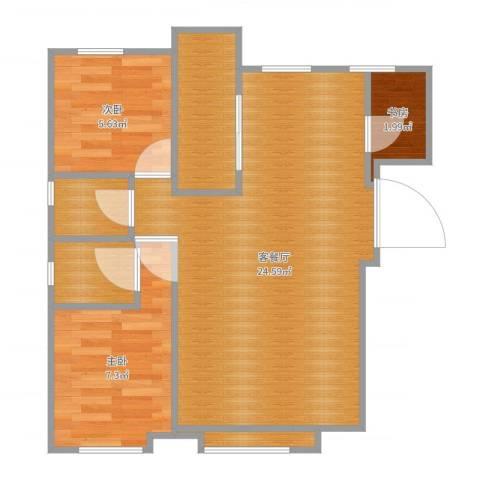 秋泽园135平3室2厅3卫1厨60.00㎡户型图