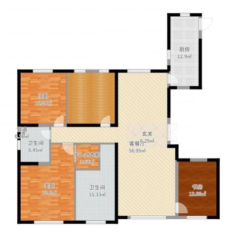 中庚当代艺术3室2厅2卫1厨203.00㎡户型图