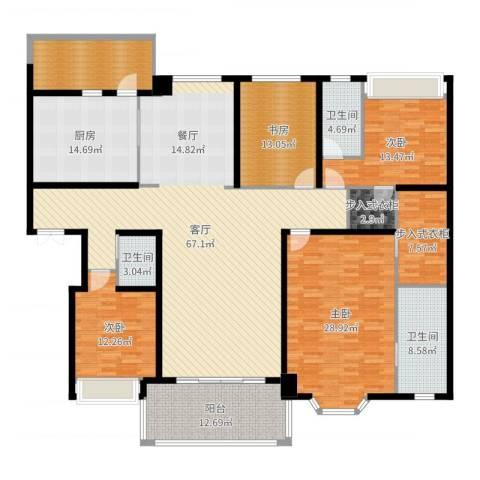 天正滨江4室1厅3卫1厨249.00㎡户型图