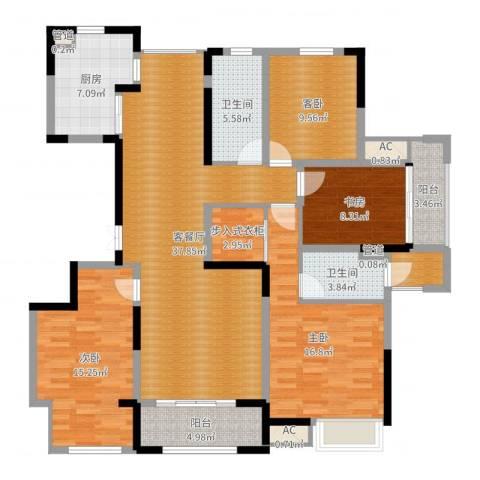 盛和花半里4室2厅2卫1厨149.00㎡户型图