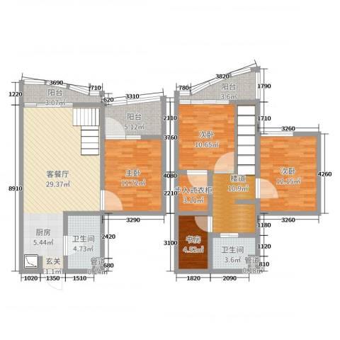 洱海国际生态城4室2厅2卫0厨102.86㎡户型图