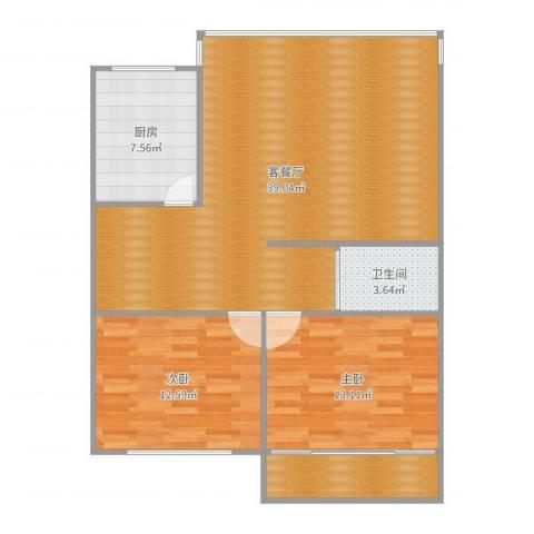 金榜阁3号1022室2厅1卫1厨80.20㎡户型图