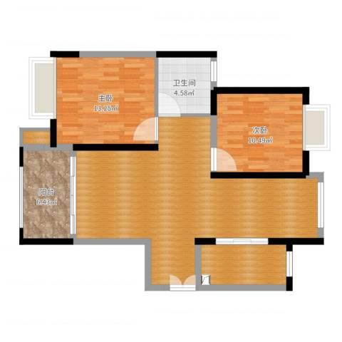 恒盛豪庭10#03室2室0厅2卫1厨94.00㎡户型图