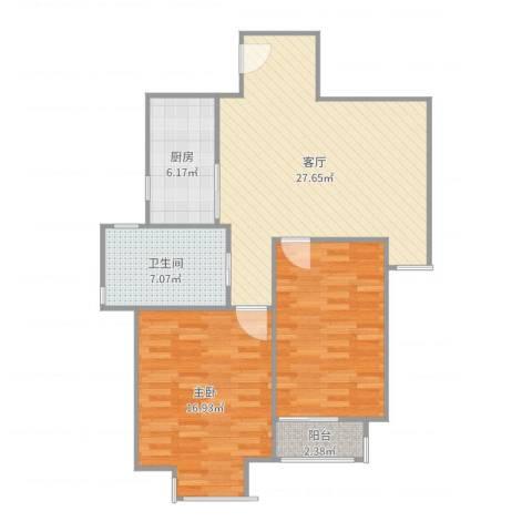 金尧首府1室1厅1卫1厨93.00㎡户型图