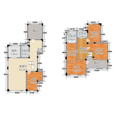 驿山高尔夫4室2厅3卫1厨277.00㎡户型图