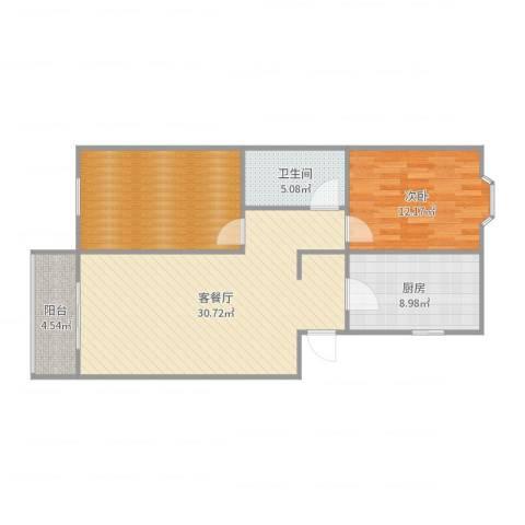 明华里1室2厅1卫1厨95.00㎡户型图