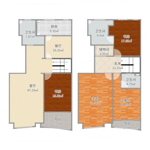 润欣花园4室2厅3卫1厨252.00㎡户型图