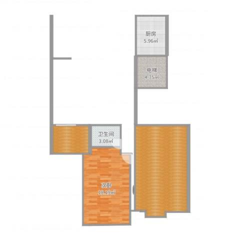 家景花园 华景苑1室0厅1卫1厨76.00㎡户型图