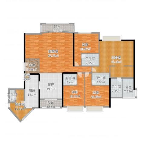 中粮海景壹号3室1厅5卫1厨335.00㎡户型图