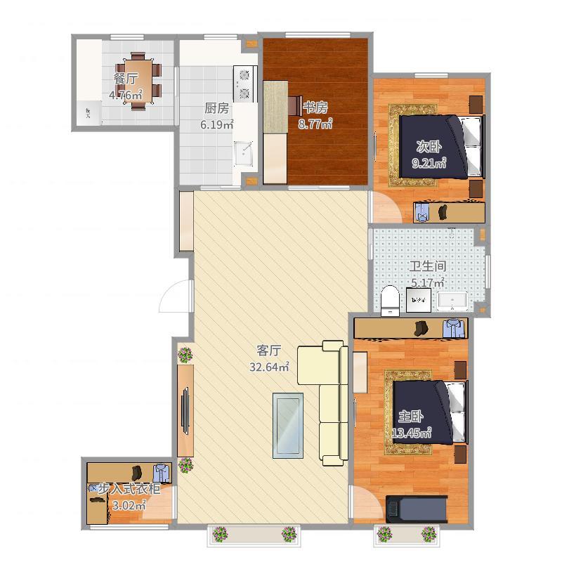 盛世新城21号楼1单元1201户型图