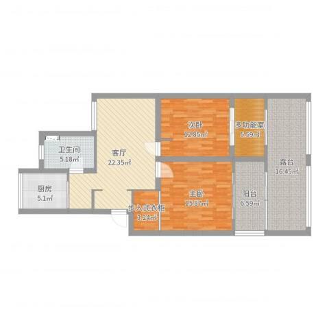 嘉宝新园2室1厅1卫1厨117.00㎡户型图