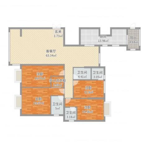 钻石海岸4室2厅4卫1厨204.00㎡户型图