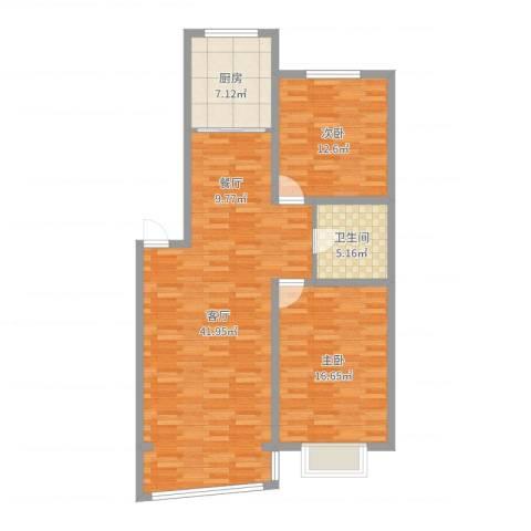 知音园2室1厅1卫1厨104.00㎡户型图