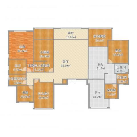 泰地世锦园5室3厅7卫3厨362.00㎡户型图
