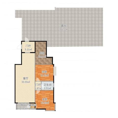 三环新城7号院2室1厅1卫0厨104.00㎡户型图
