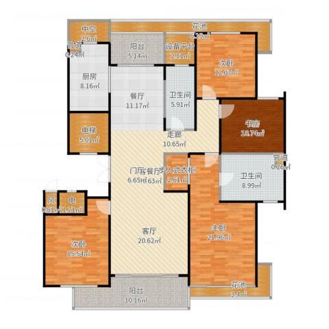 绿城之江1号4室2厅2卫1厨216.00㎡户型图