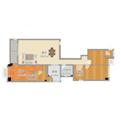御翠园1室1厅4卫2厨186.00㎡户型图