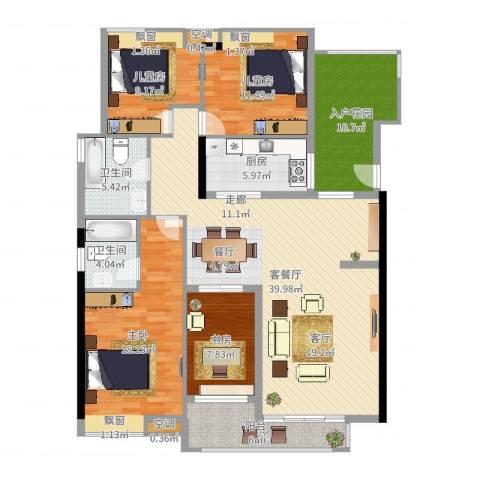 保利香雪山4室2厅2卫1厨149.00㎡户型图