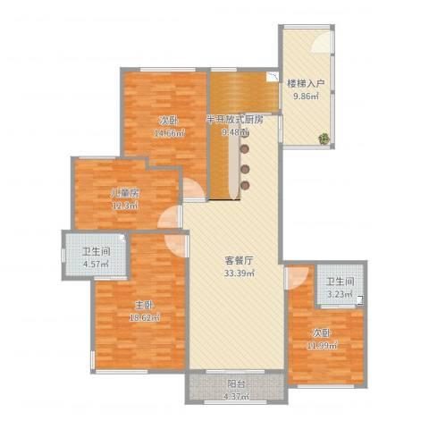 丽景福苑四室两厅两卫A44室2厅2卫0厨153.00㎡户型图