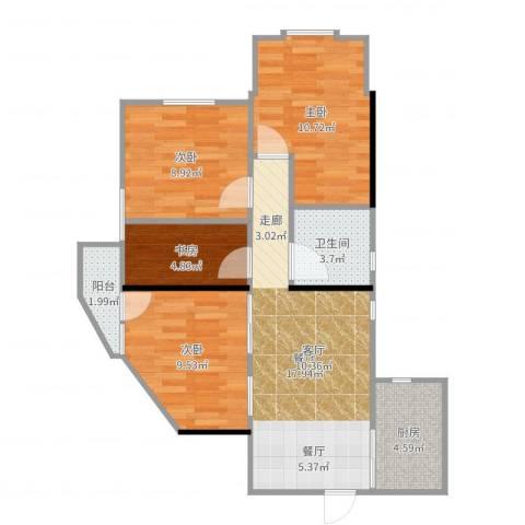 加拿大花园4室1厅1卫1厨78.00㎡户型图
