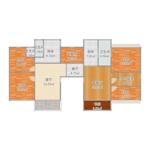 幸福新村6室4厅3卫2厨191.00㎡户型图