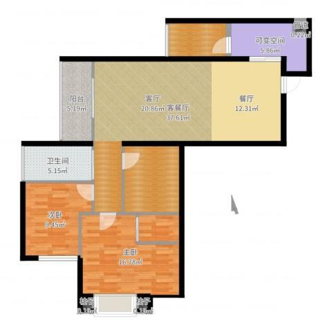 星光苑2室2厅1卫0厨116.00㎡户型图