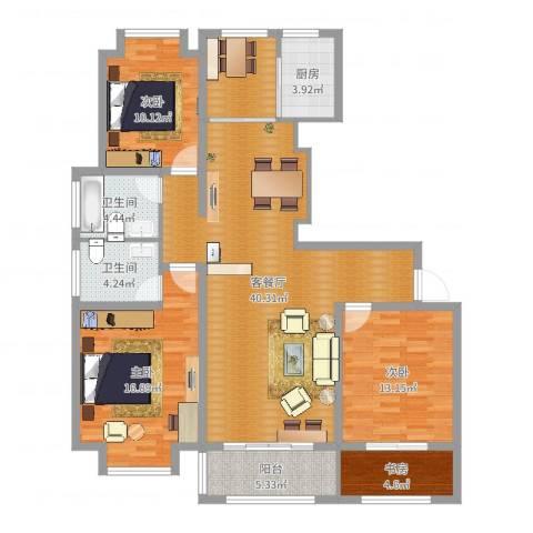 兰花村4室2厅2卫1厨135.00㎡户型图