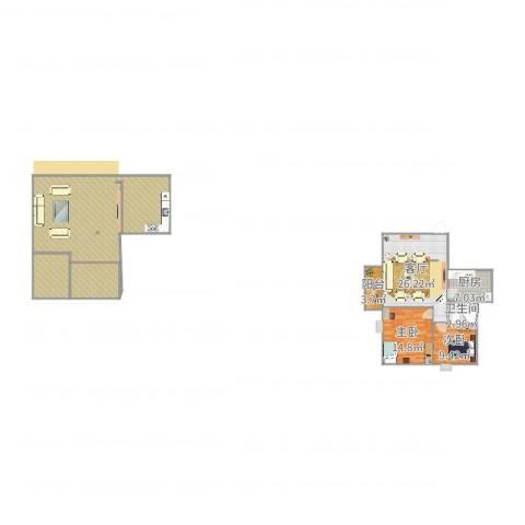 万丰花园2室1厅1卫1厨169.00㎡户型图