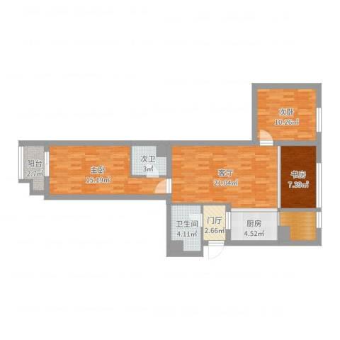 盛今家园现代1103室1厅1卫1厨92.00㎡户型图