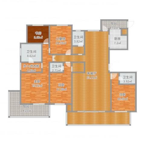 漫山香墅天麓5室2厅4卫1厨274.00㎡户型图