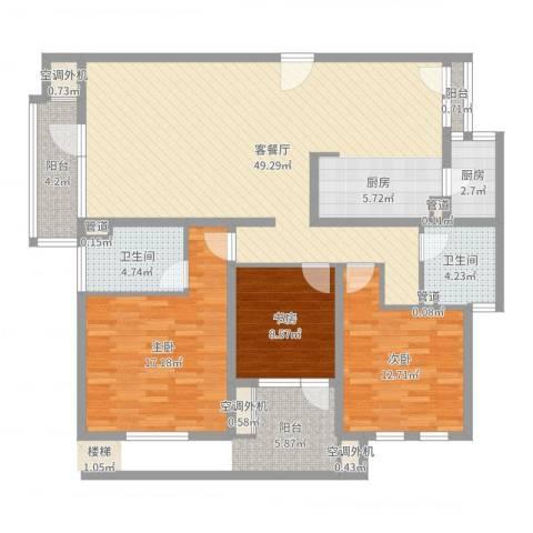 阳光硅谷3室2厅2卫1厨133.00㎡户型图