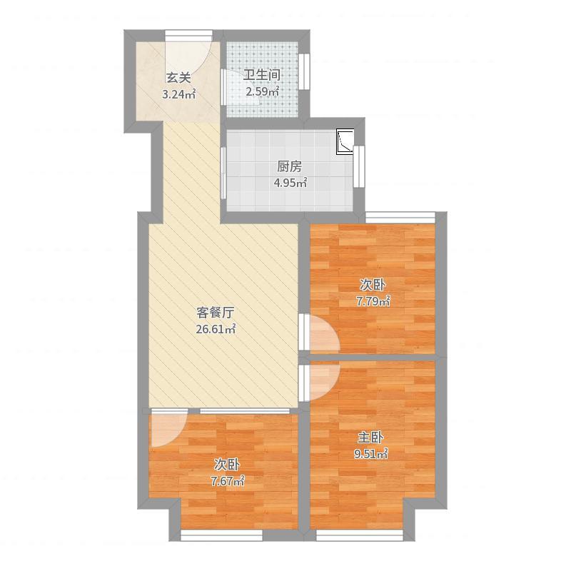 国宾壹号-改三室户型图