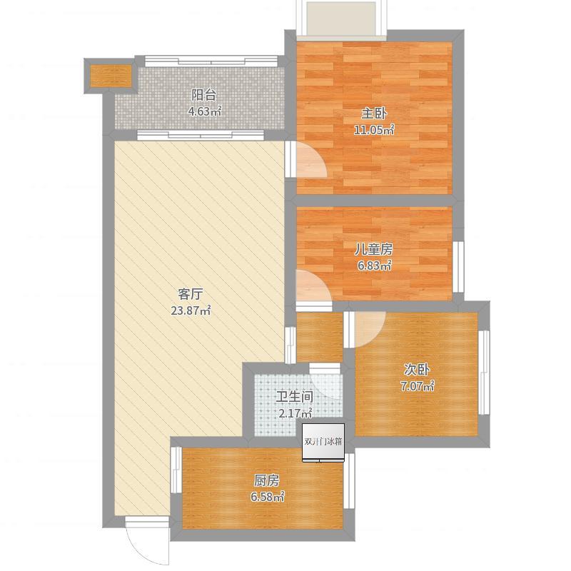 中央王府8号楼-9户型图